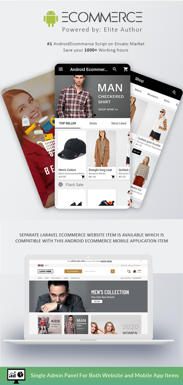 Android Ecommerce - Universal Android Ecommerce / Store Full Mobile App with Laravel CMS - 2