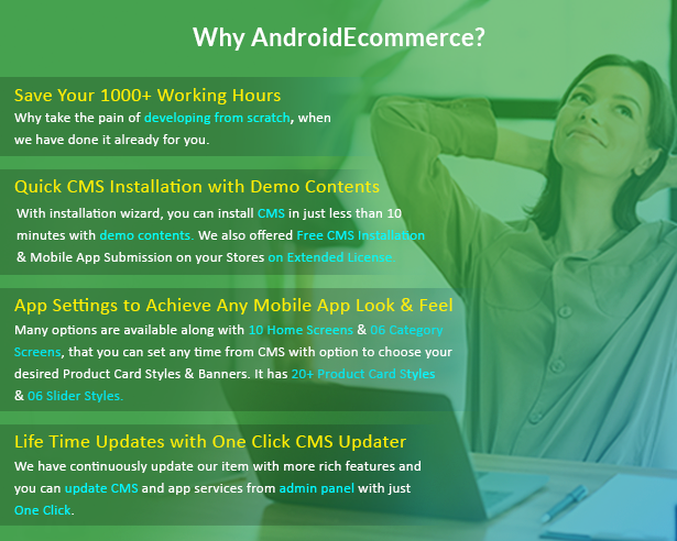 Android Ecommerce - Universal Android Ecommerce / Store Full Mobile App with Laravel CMS - 4