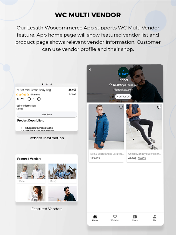 Lesath - Ionic 5 Woocommerce Full Mobile App Solution for iOS & Android with App Builder Plugin Download