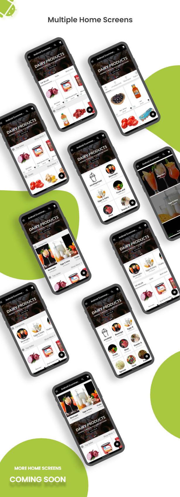 Android Ecommerce - Aplicativo móvel completo de loja / comércio eletrônico Android universal com Laravel CMS - 11