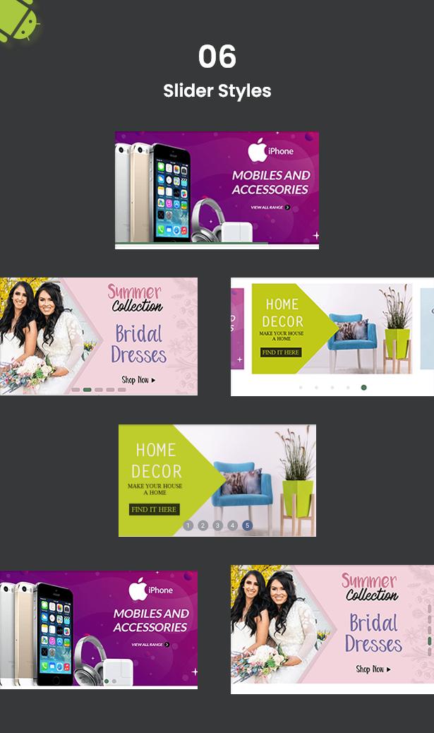 Android Ecommerce - aplicativo móvel completo de loja / comércio eletrônico Android universal com Laravel CMS - 14