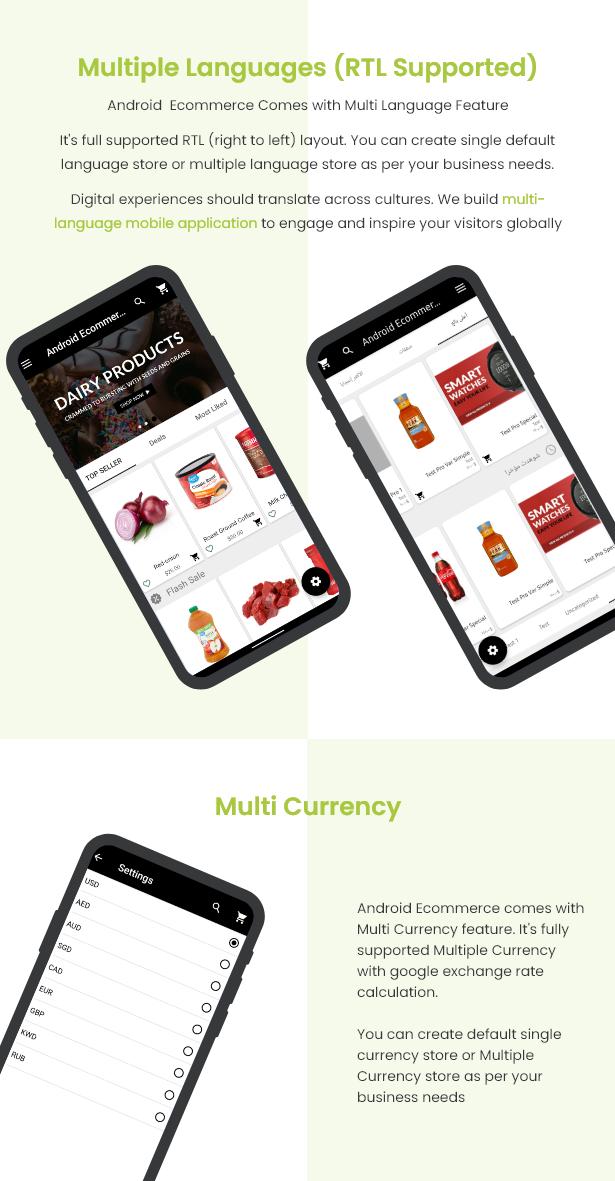 Android Ecommerce - aplicativo móvel completo de loja / comércio eletrônico Android universal com Laravel CMS - 17