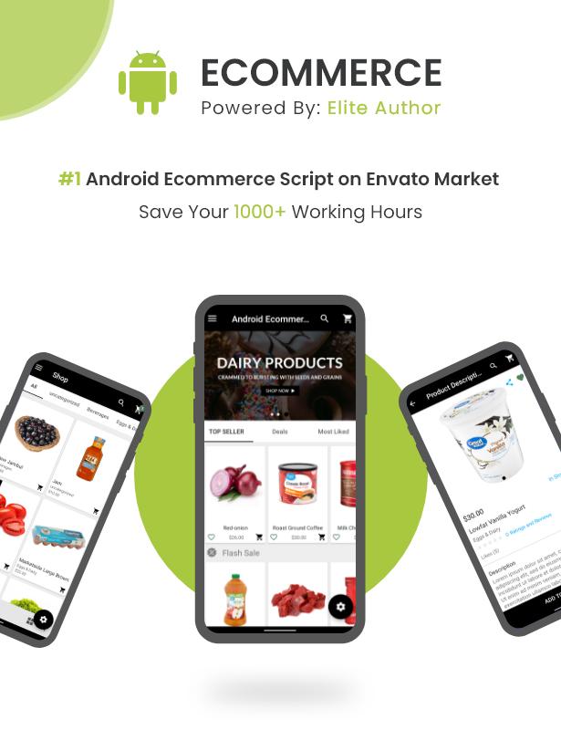 Android Ecommerce - Aplicativo móvel completo de loja / comércio eletrônico Android universal com Laravel CMS - 2