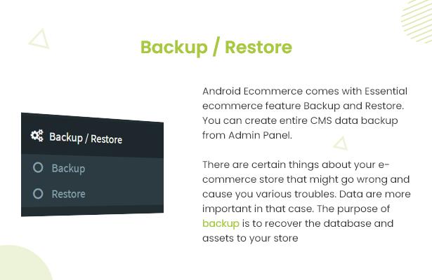 Android Ecommerce - aplicativo móvel completo de loja / comércio eletrônico Android universal com Laravel CMS - 21