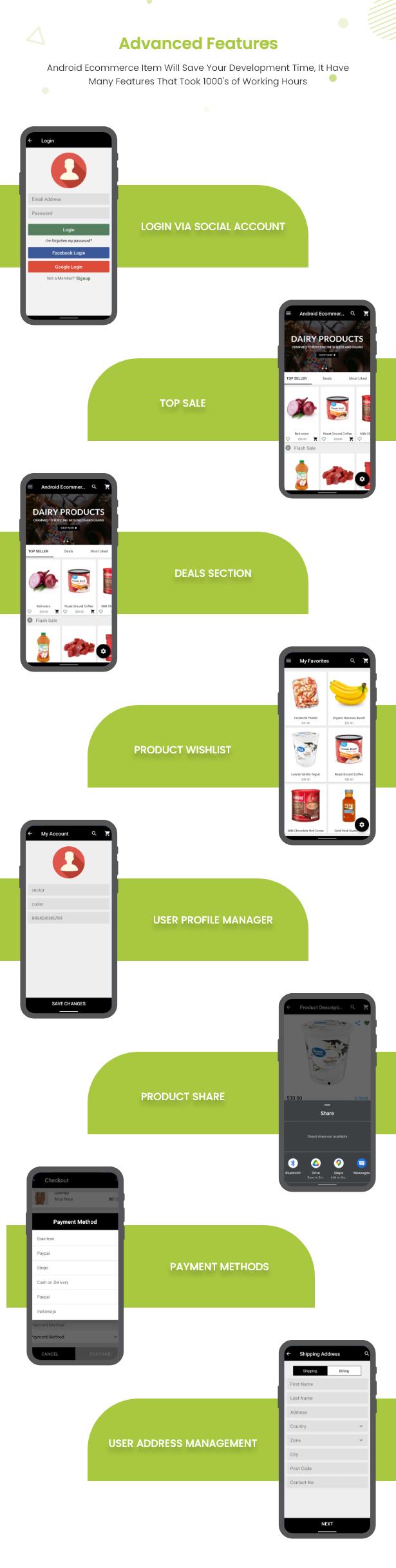 Android Ecommerce - Aplicativo móvel completo de loja / comércio eletrônico Android universal com Laravel CMS - 22
