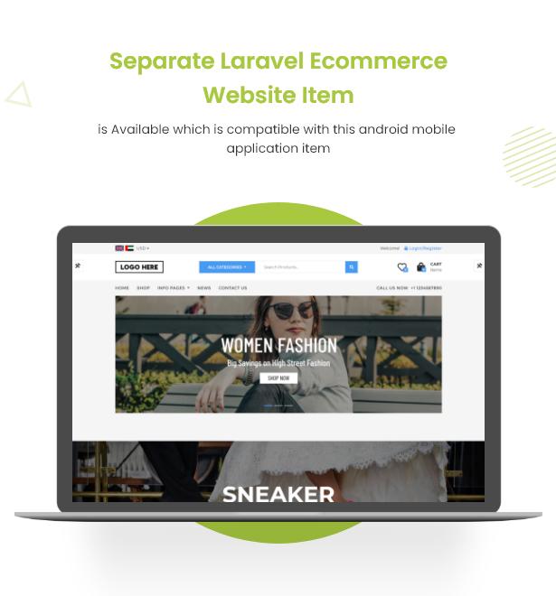 Android Ecommerce - Aplicativo móvel completo de loja / comércio eletrônico Android universal com Laravel CMS - 3