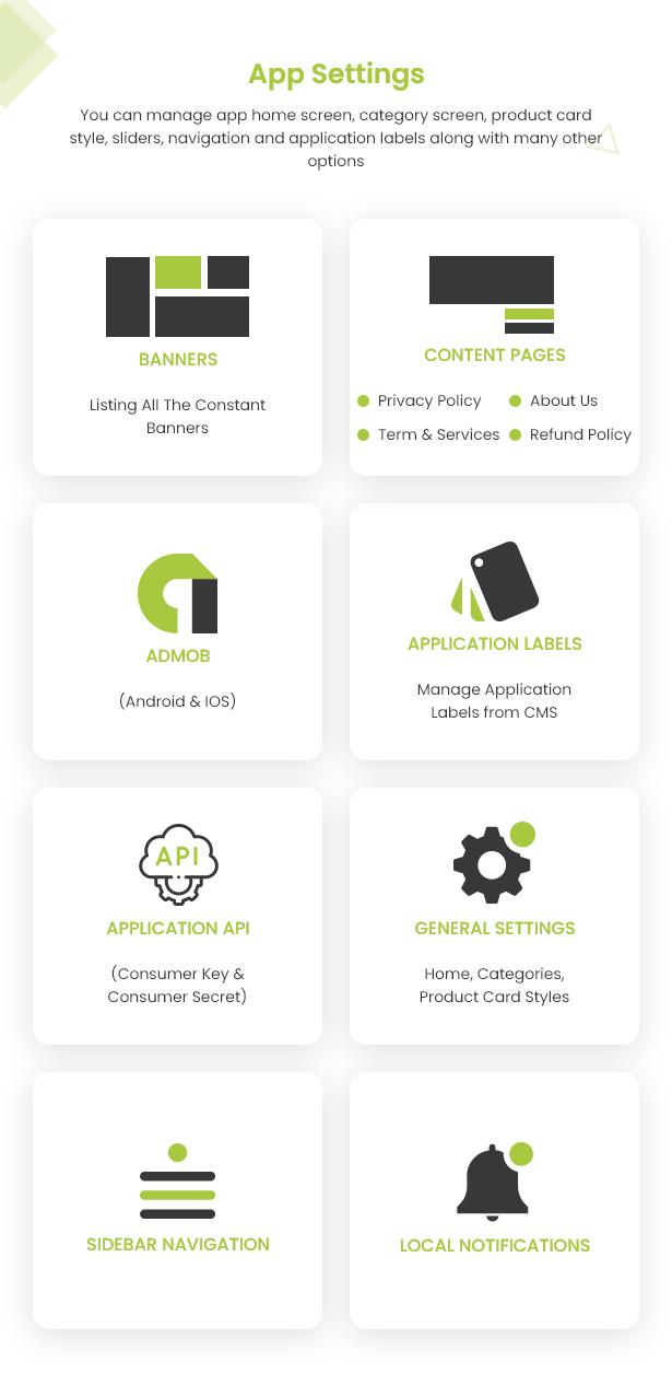 Android Ecommerce - Aplicativo móvel completo de loja / comércio eletrônico Android universal com Laravel CMS - 31