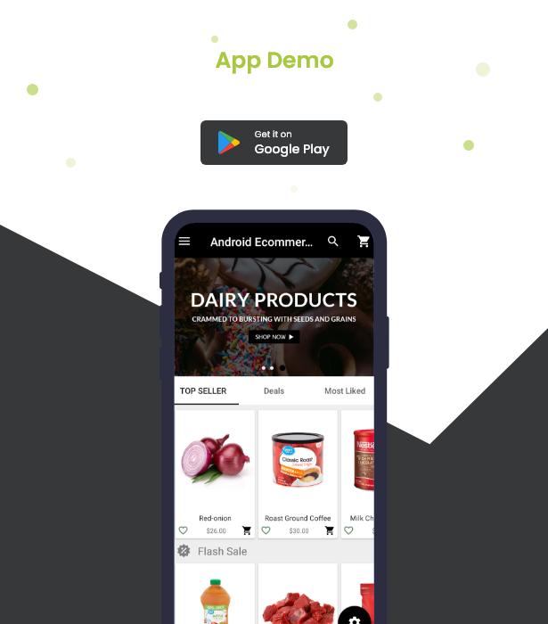 Android Ecommerce - Aplicativo móvel completo de loja / comércio eletrônico Android universal com Laravel CMS - 32