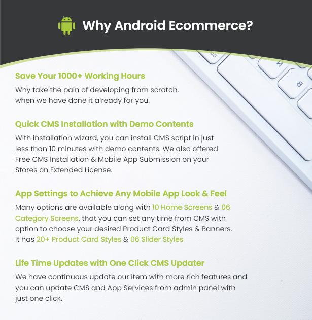 Android Ecommerce - Aplicativo móvel completo de loja / comércio eletrônico Android universal com Laravel CMS - 7