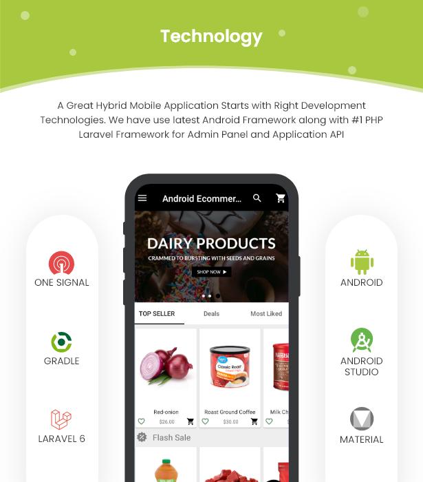 Android Ecommerce - Aplicativo móvel completo de loja / comércio eletrônico Android universal com Laravel CMS - 8