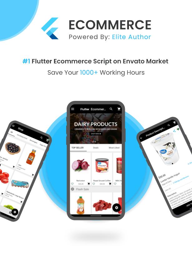 Flutter Ecommerce - Universal iOS e Android Ecommerce / Store Full Mobile App com PHP Laravel CMS - 2