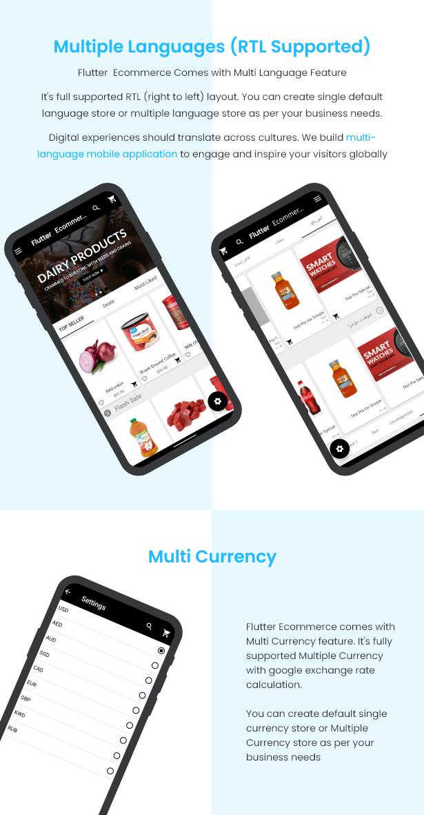 Flutter Ecommerce - Universal iOS e Android Ecommerce / Store Full Mobile App com PHP Laravel CMS - 13