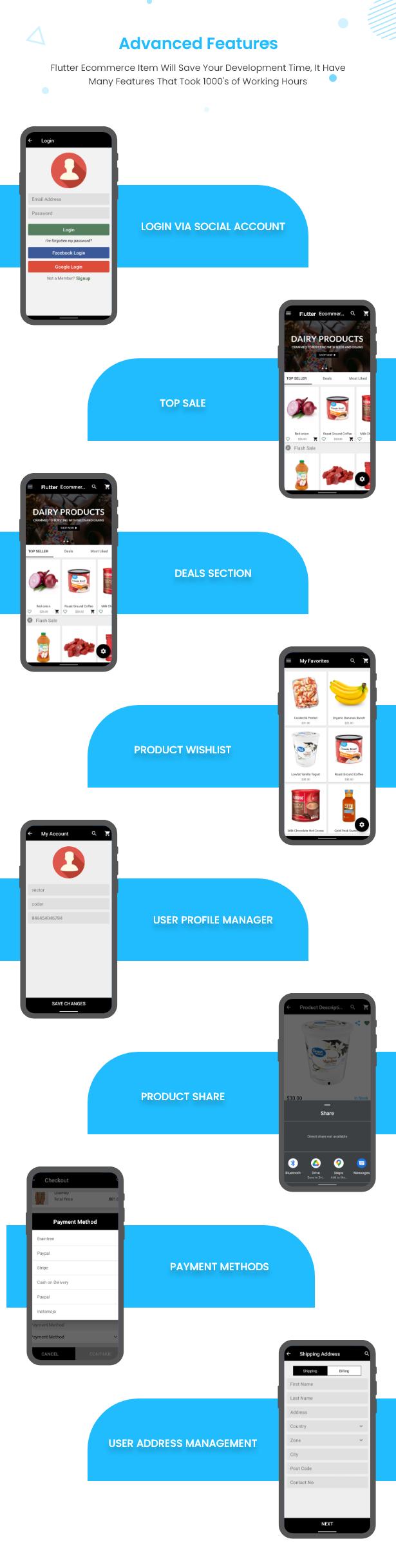 Flutter Ecommerce - Universal iOS e Android Ecommerce / Store Full Mobile App com PHP Laravel CMS - 18