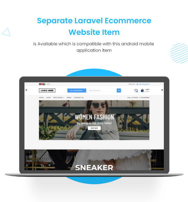 Flutter Ecommerce - Universal iOS e Android Ecommerce / Store Full Mobile App com PHP Laravel CMS - 3
