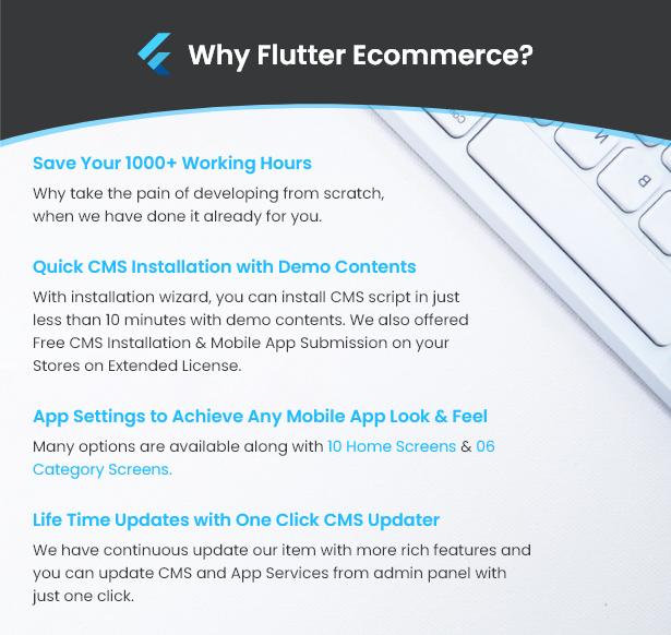 Flutter Ecommerce - Universal iOS e Android Ecommerce / Store Full Mobile App com PHP Laravel CMS - 7