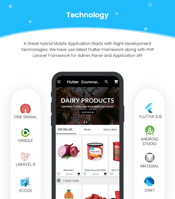 Flutter Ecommerce - Universal iOS e Android Ecommerce / Store Full Mobile App com PHP Laravel CMS - 6