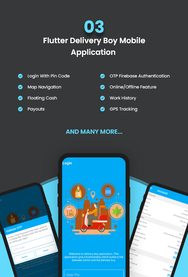 Flutter Delivery Solution Apps with Advance Website and CMS - 5