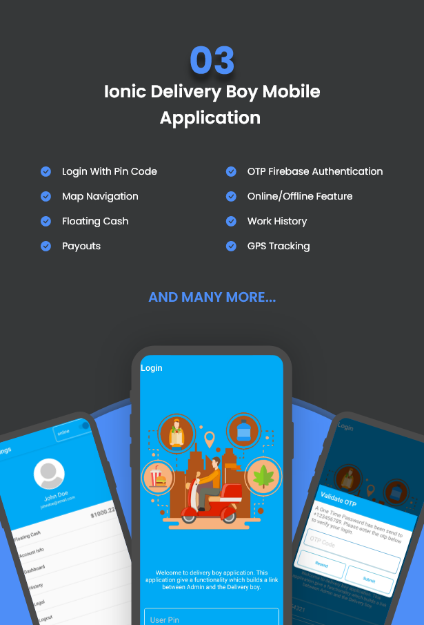 Best Ecommerce Solution with Delivery App For Grocery, Food, Pharmacy, Any Stores / Laravel + IONIC5 - 7