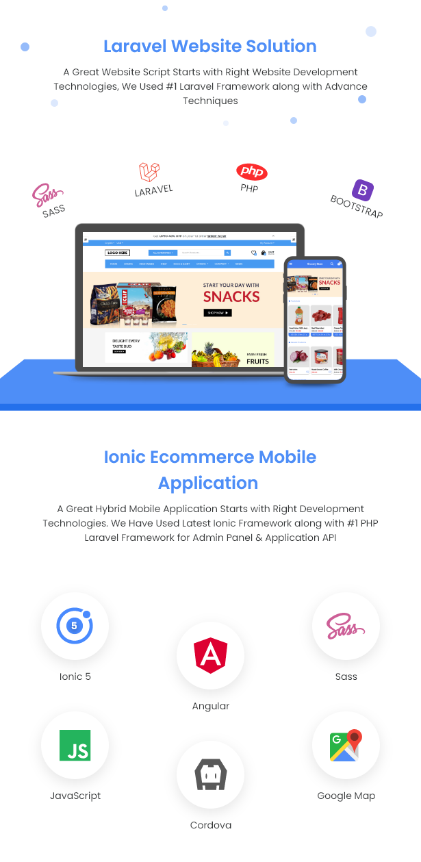 Best Ecommerce Solution with Delivery App For Grocery, Food, Pharmacy, Any Stores / Laravel + IONIC5 - 10