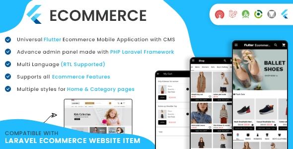 Flutter Ecommerce - Universal iOS e Android Ecommerce / Store Full Mobile App com PHP Laravel CMS - 35