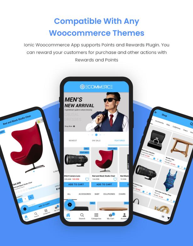 Ionic5 Woocommerce - Ionic5/Angular8 Universal Full Mobile App for iOS & Android / Wordpress Plugins 27