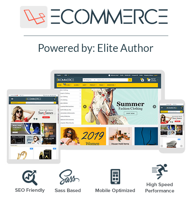 Laravel Ecommerce - Universal Ecommerce/Store Full Website with Themes and Advanced CMS/Admin Panel - 1