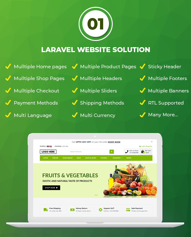 Ecommerce Solution with Delivery App For Grocery, Food, Pharmacy, Any Store / Laravel + Android Apps - 3
