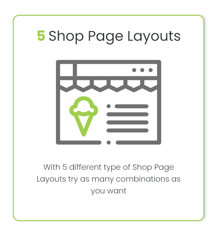Shop Page layout